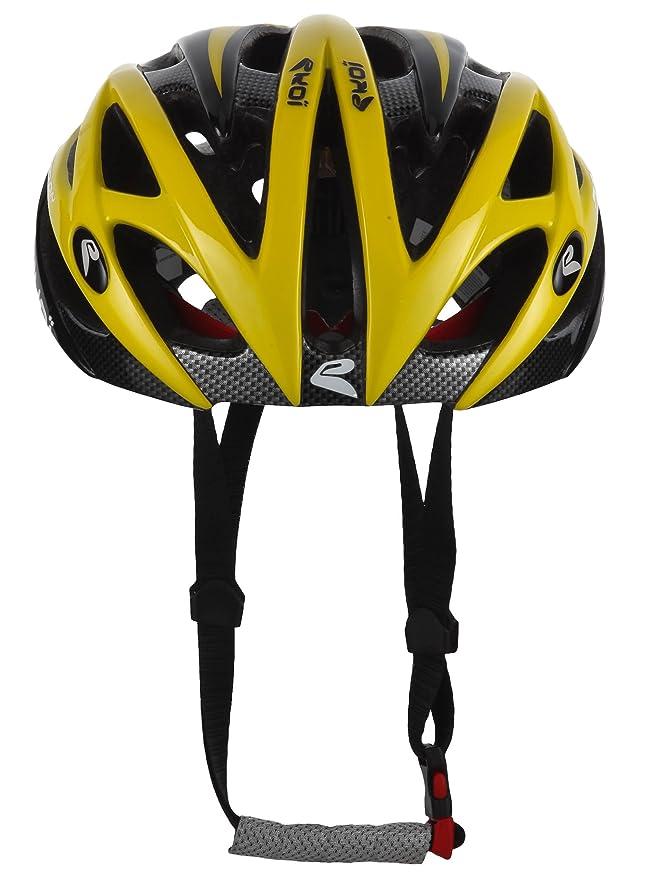 Ekoi Casco de ciclismo Diablo Negro/Amarillo S/M (53/58 cm): Amazon.es: Ropa y accesorios
