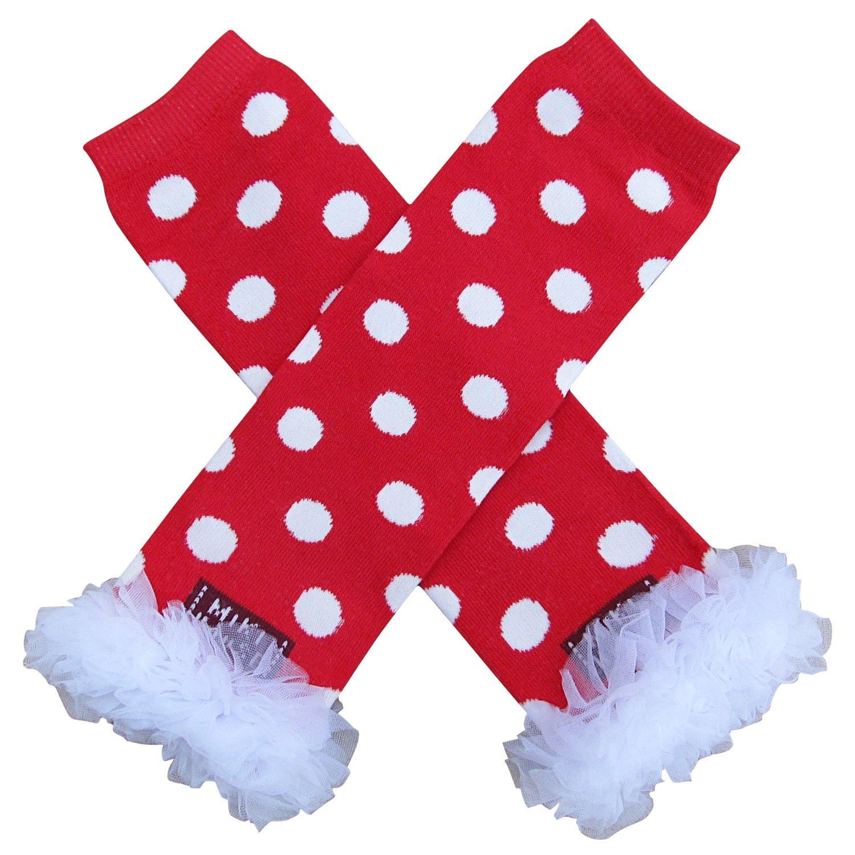 So Sydney Baby Toddler Girl Polka Dot Tutu Chiffon Ruffle Leg Warmers