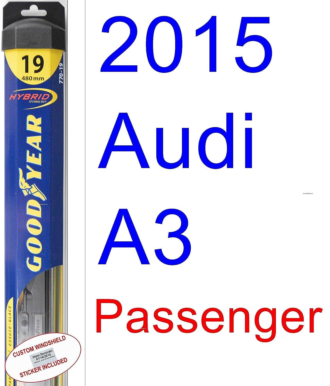 2015 Audi A3 hoja de limpiaparabrisas de repuesto Set/Kit (Goodyear limpiaparabrisas blades-hybrid): Amazon.es: Coche y moto