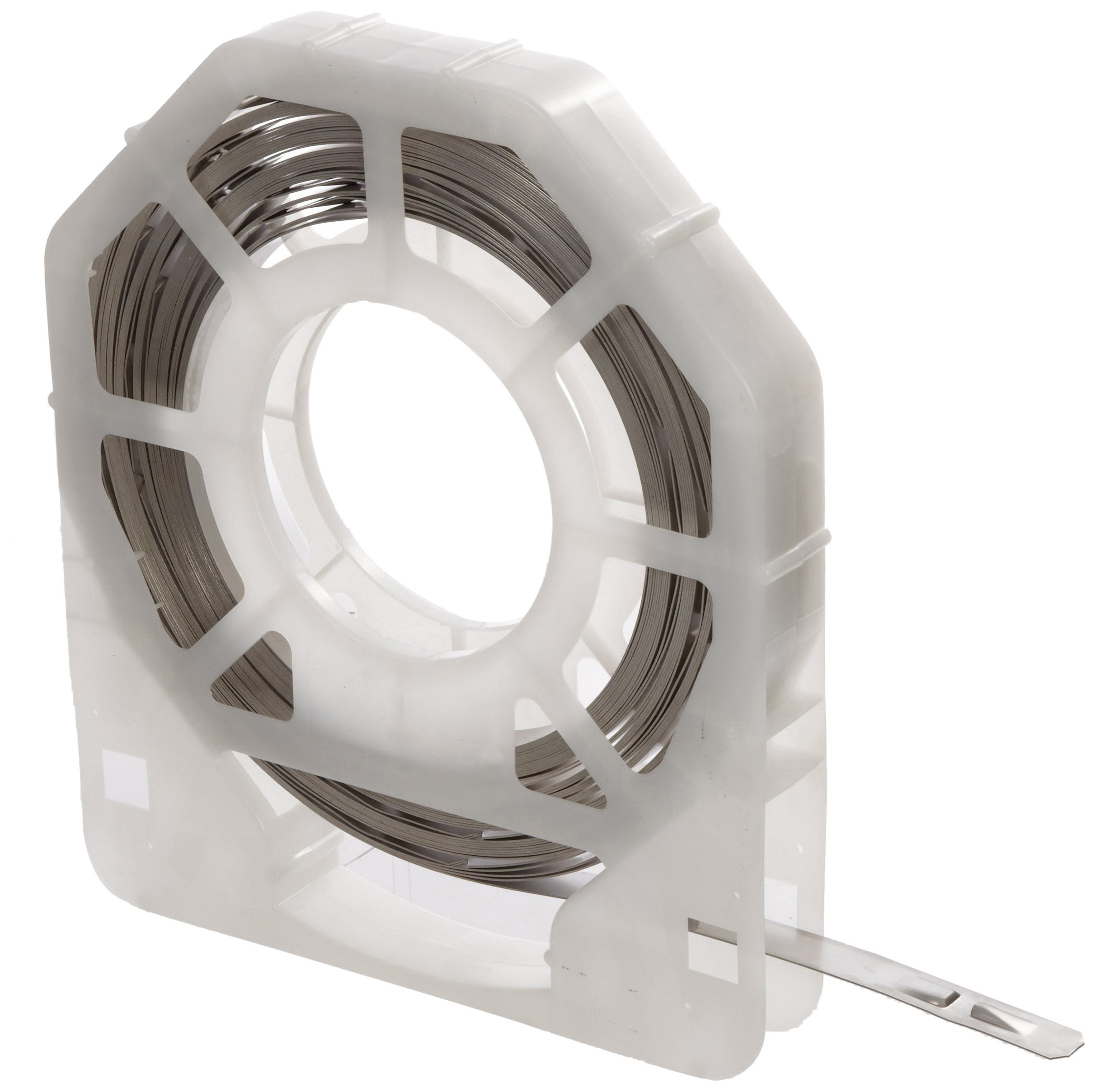 BAND-IT UL2068 Ultra-Lok 3/4'' Wide x 0.030'' Thick x 68'' Length, 201 1/4 Hard Stainless Steel Band (17 Per Tote)