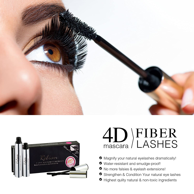 45998c4b810 Amazon.com : 4D Silk Fiber Lash Mascara - DDK Waterproof Makeup Eyelash  Extension Mascara Cream - Crazy Long Washable Mascara - Best for Thickening  ...