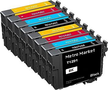 Metro Market 8 Piezas Reemplazo para Epson T1291-T1294 ...