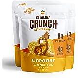 Catalina Crunch Mix Cheddar Keto Snack Mix   Keto Friendly, Protein Snacks, 6oz (Pack of 3)
