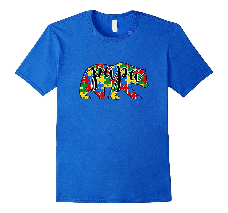 853f195e Papa Bear Autism t-shirt Autism Awareness Tee Shirt-PL – Polozatee