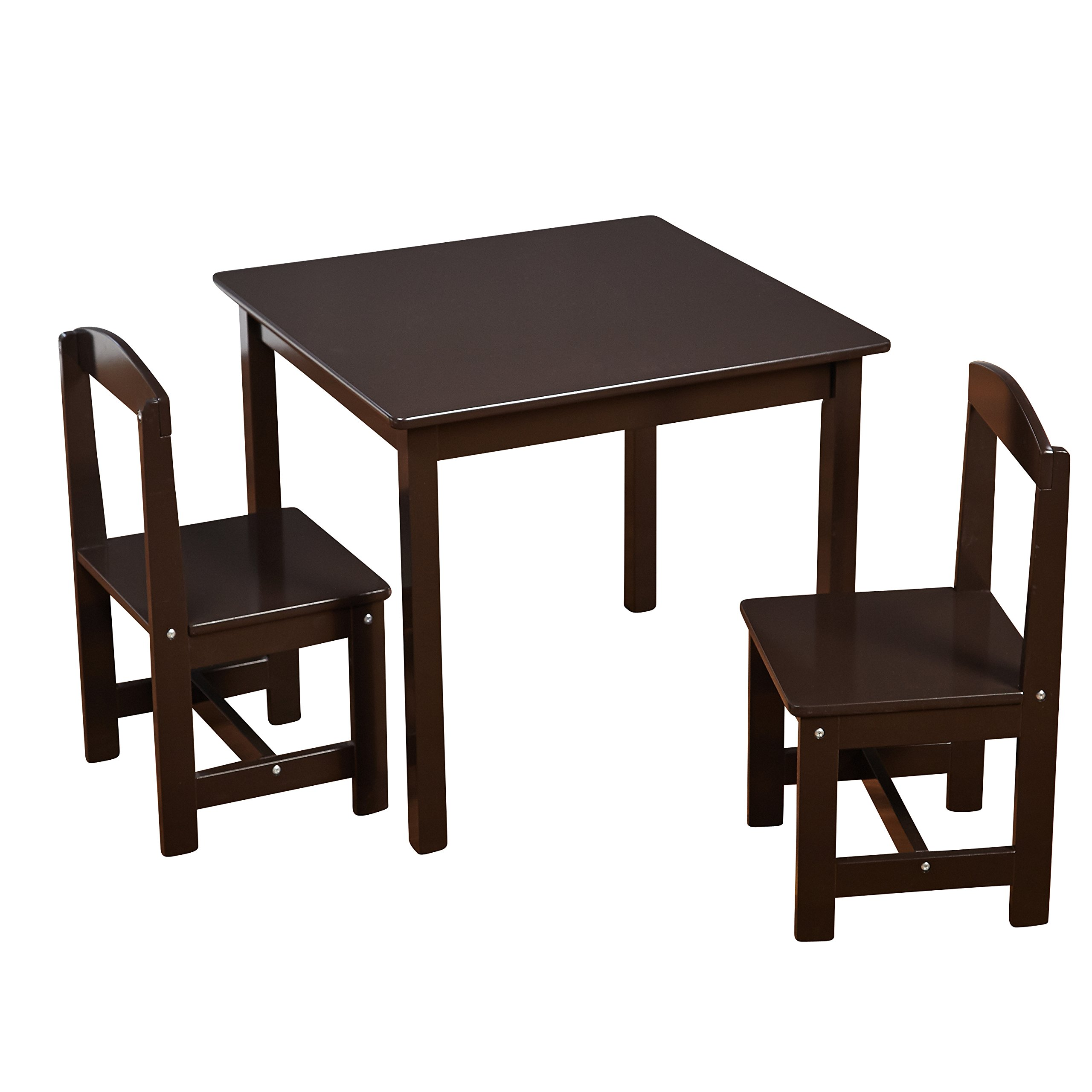 Target Marketing Systems 91120ESP Hayden Kids Table and Chairs, Espresso