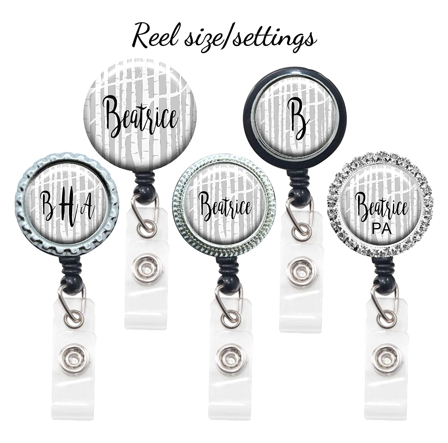 Adjustable Yoke or Tube Steth Id Personalized with Name Monogram Gray Winter Forest Stethoscope Tag Hospital Nurse Gift Occupation Title