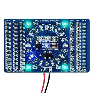 Montaje superficial SMD DIY Gikfun de soldadura de entrenamiento de práctica tabla de Skill Ek7028: Amazon.es: Informática
