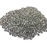 Kwizy Rivoli Rhinestone Chatons Stones Beads for Craft Jewellery Embroidery Making Purpose (500 Pcs,Silver)