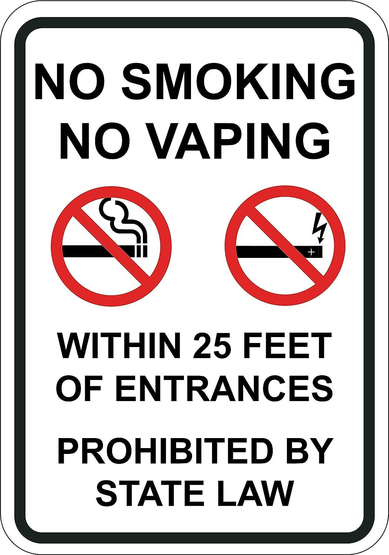 Cartel de ley de estado de entrada prohibido fumar sin ...
