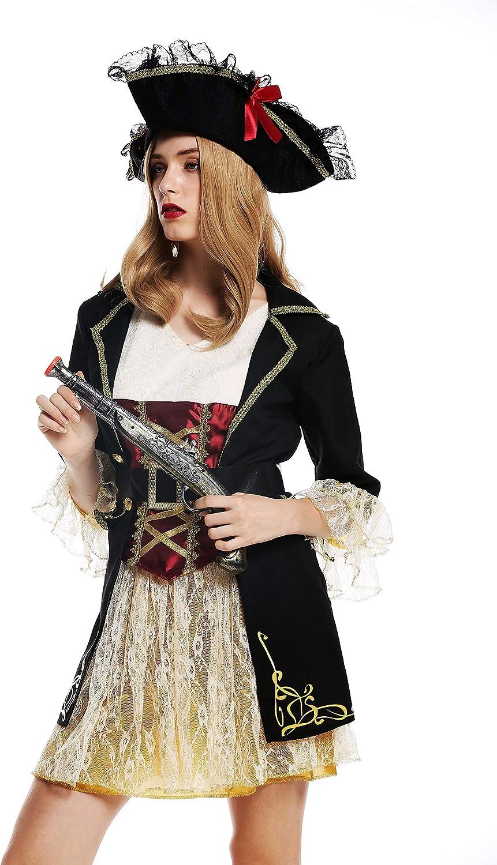 dressmeup - W-0266 Disfraz Mujer Feminino andrógino Pirata ...