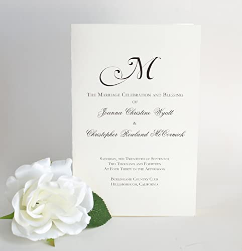 amazon com wedding programs black and white wedding booklets the