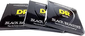 DR Guitar Strings Electric K3 Black Beauties High Performance 3 Packs 09-46