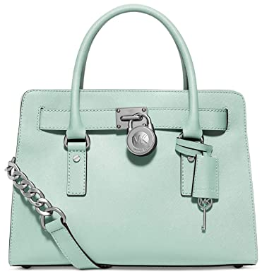 Amazon.com  Michael Kors Hamilton East West Saffiano Leather Satchel ... 6ffe14418f032