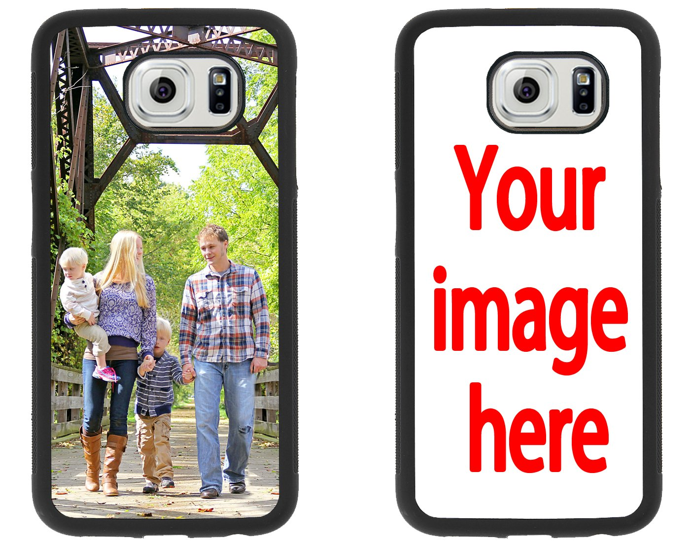 official photos d8dae 6ce8a Custom Phone Cases Samsung Galaxy S6, iZERCASE [Personalized Custom Picture  CASE] Make Your Own Phone Case (Black)
