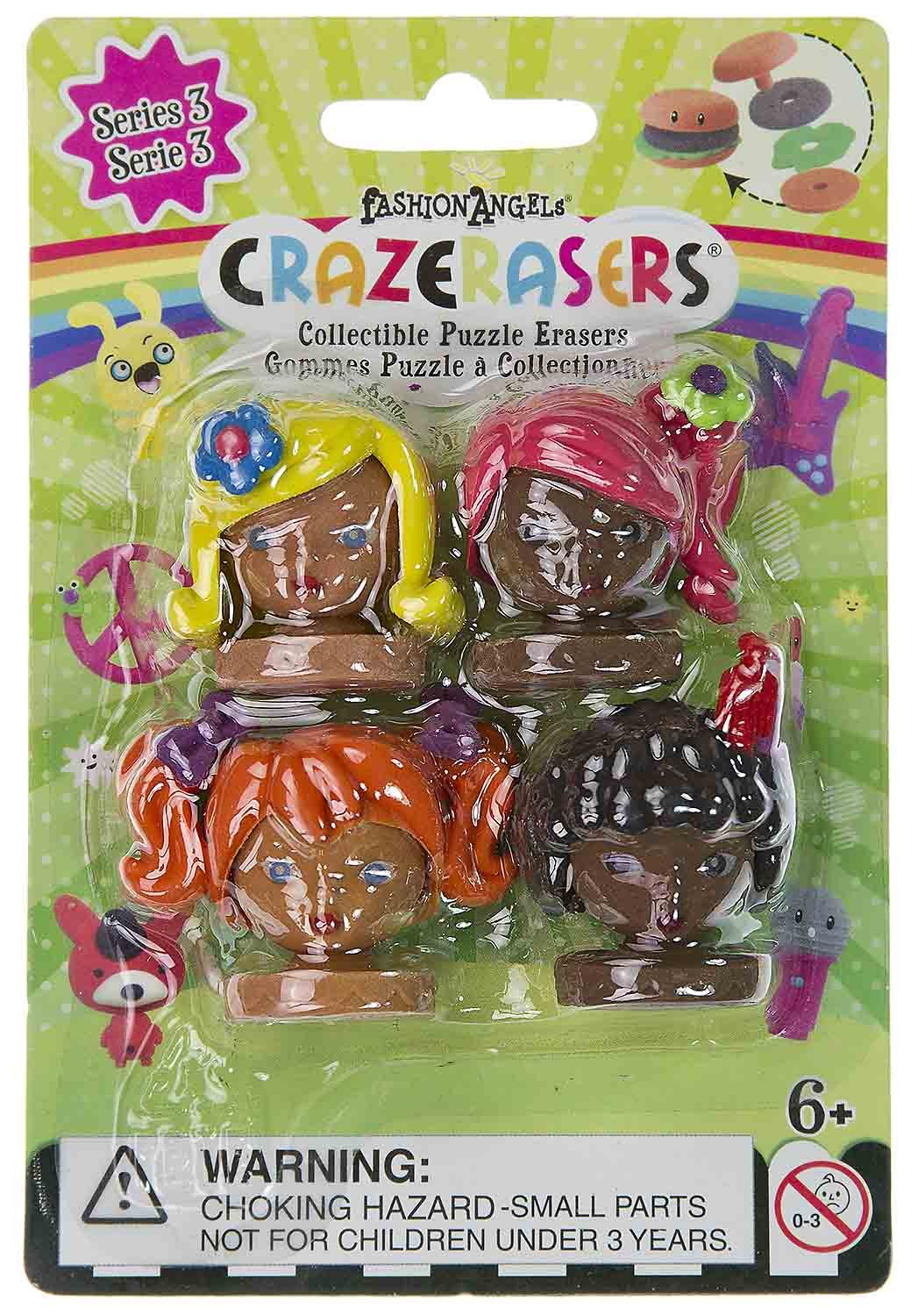 Series 3 CrazErasers Collectible Erasers ~ The Fashion Angels