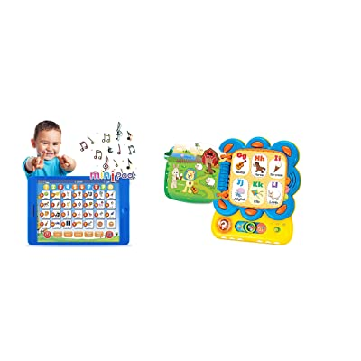 Learning Toys Set of 2 (Learning Pad Fun Kids Tablet | Toy for Number Learning, Learning ABCs, Spelling Learning + Chapa The Lion | Activity Sound Book. Save 8% on Your Purchase.: Toys & Games