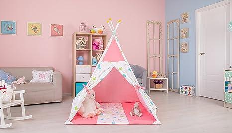 Polini bambini tipi tenda del gioco per i bambini con cotone rosa