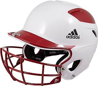 adidas Trilogy Fastpitch Batting Helmet, Unisex, Red, OneSizeFitsMost