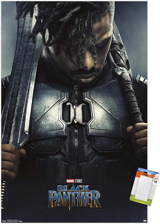 Trends International Marvel Cinematic Universe - Black Panther - Erik Killmonger One Sheet Wall Poster, 14.725