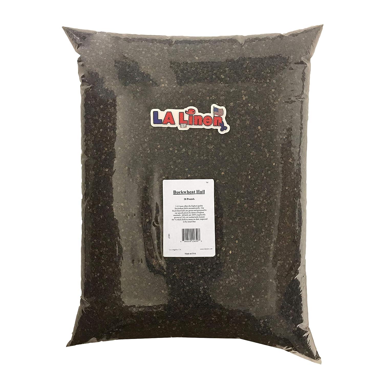 20-Pound LA Linen Prepackaged Organic Buckwheat Hulls, 40 Pounds