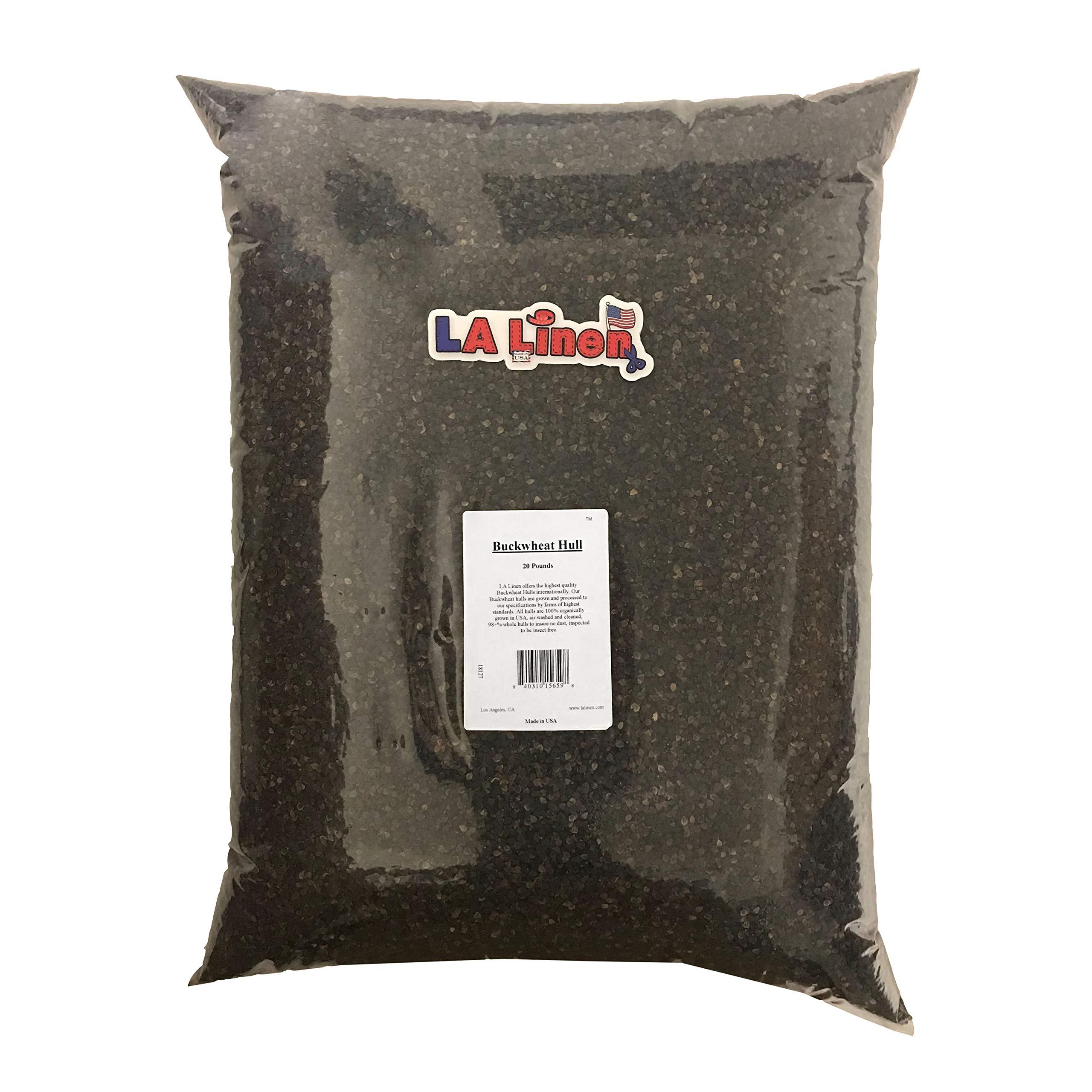 LA Linen Prepackaged Organic Buckwheat Hulls, 20 Pounds