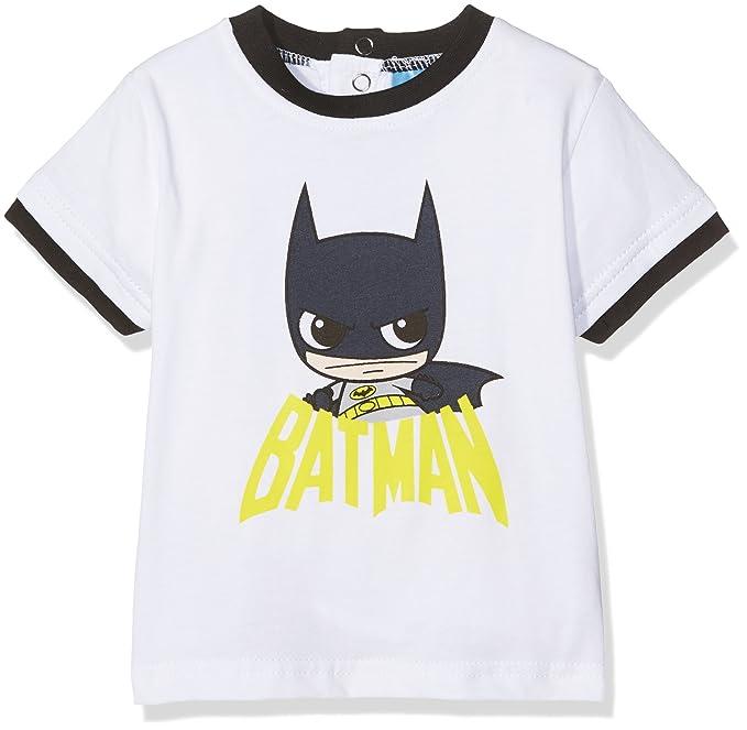 DC Comics Batman, Camiseta para Bebés, Negro Black, 9 Mes