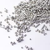 Mixed Silver Dragees |Wedding | Bridal Shower | Anniversary | Hannukah | New Year's | Christmas Metallic Sprinkles, 2OZ…