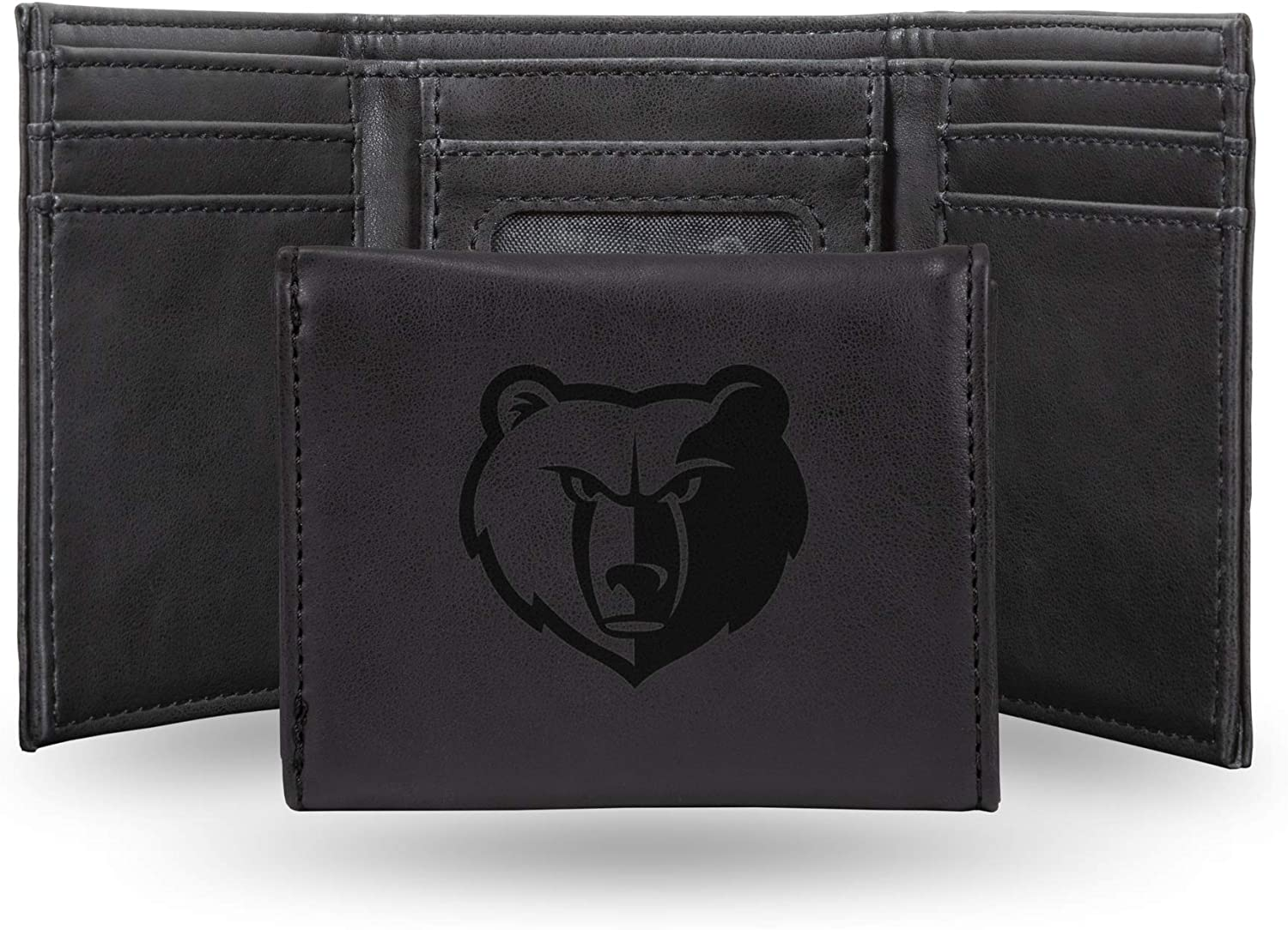 Memphis Grizzlies NBA Rico Industries Laser Engraved Trifold Wallet