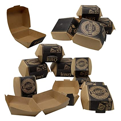 ToCis Big BBQ 24 Cajas para Hamburguesas, Bolsas para ...