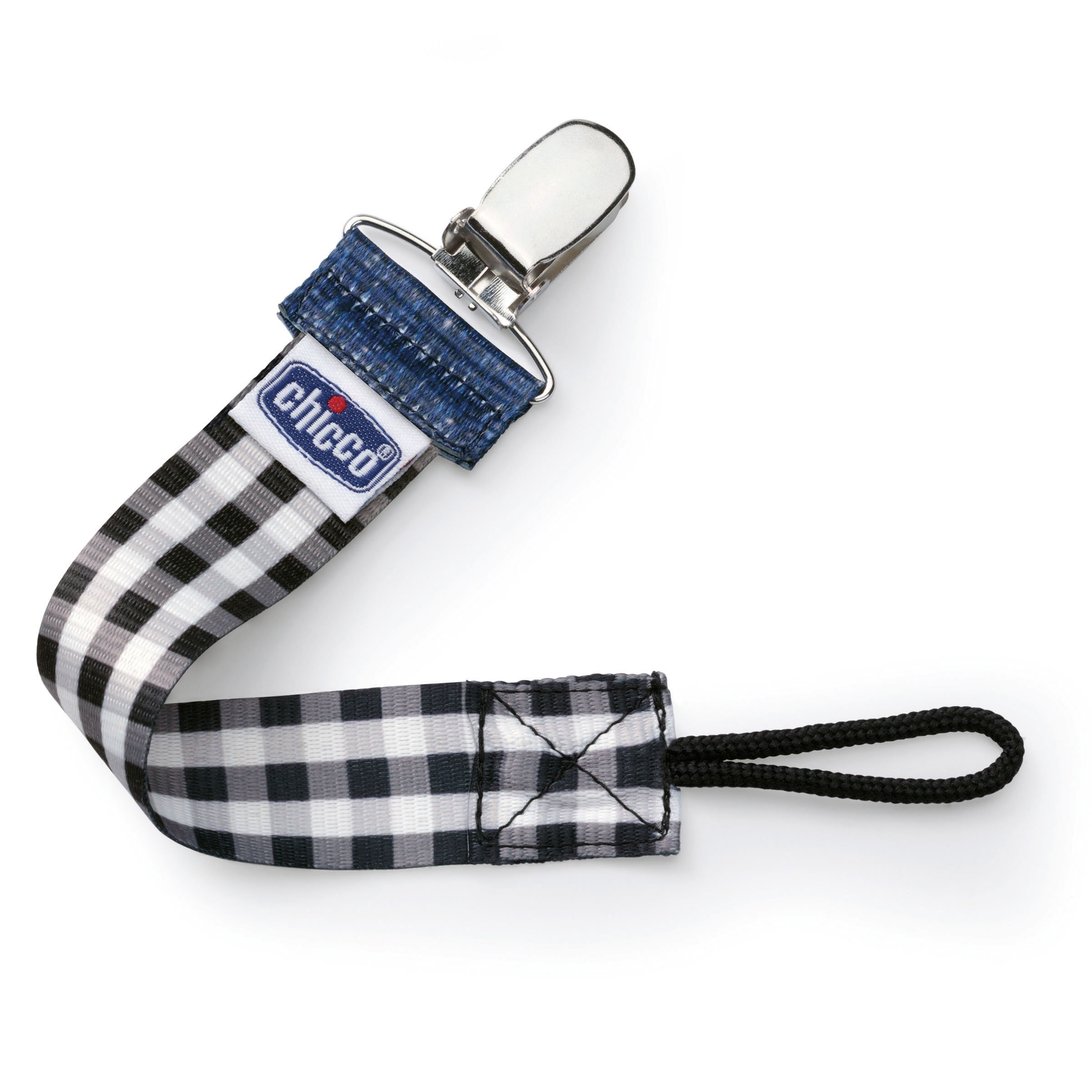 Chicco Fashion Pacifier Clip, Black Gingham by Chicco