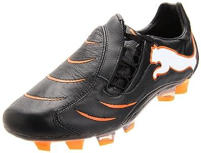 21b5a8c20 PUMA Men's Powercat 2.10 FG-M, Black/White/Fluorescent Orange, 11