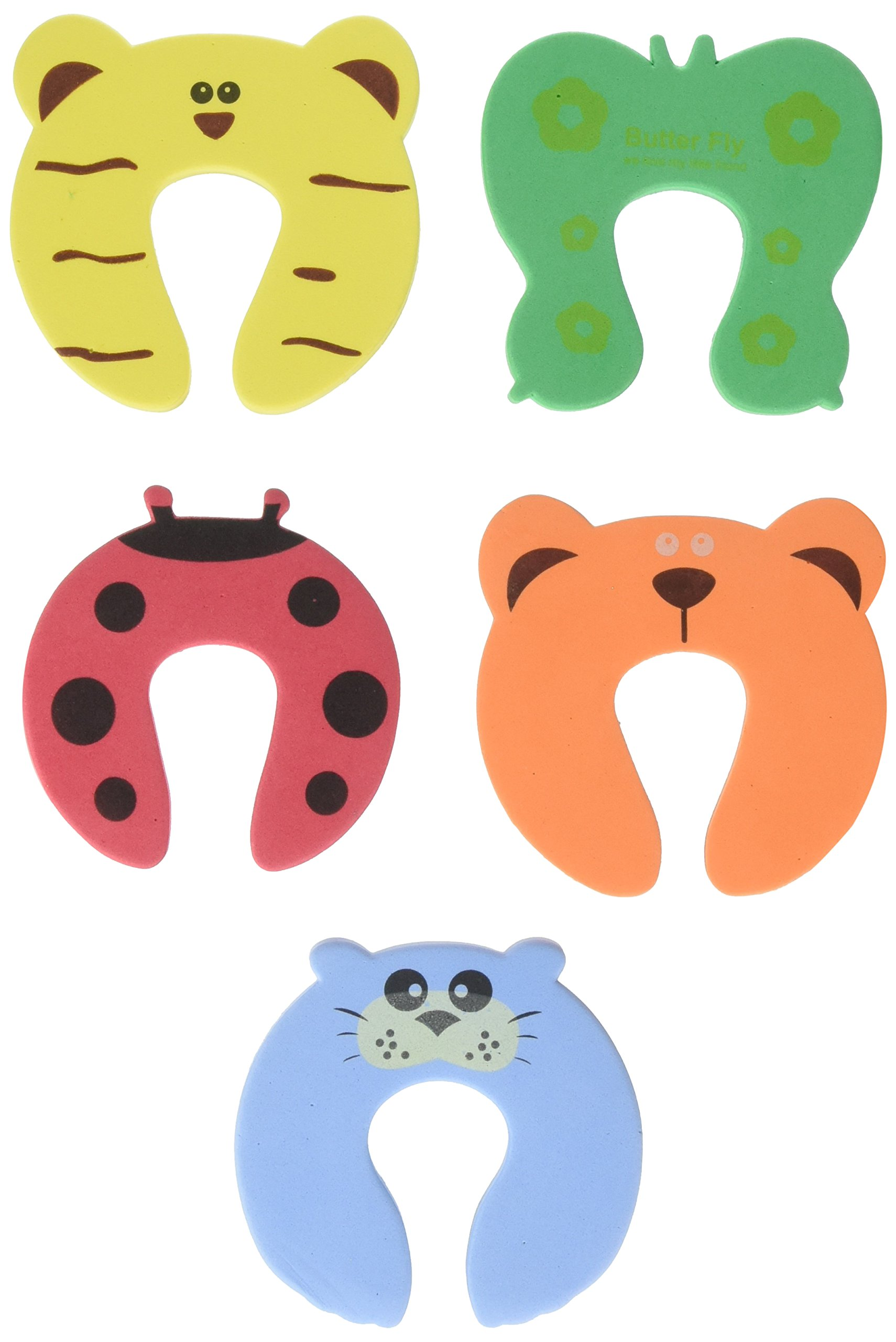TOOGOO 5x Baby Kids Door Jammer Finger Pinch Guard Child Toddler Infant Safety Protector Stopper Cute Animal Designs