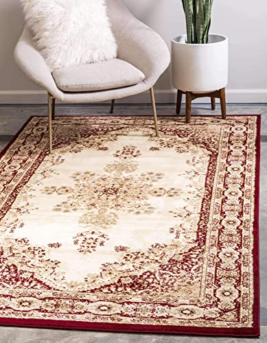 Unique Loom Versailles Collection Traditional Classic Cream/Red Area Rug 10' 6 x 16' 5