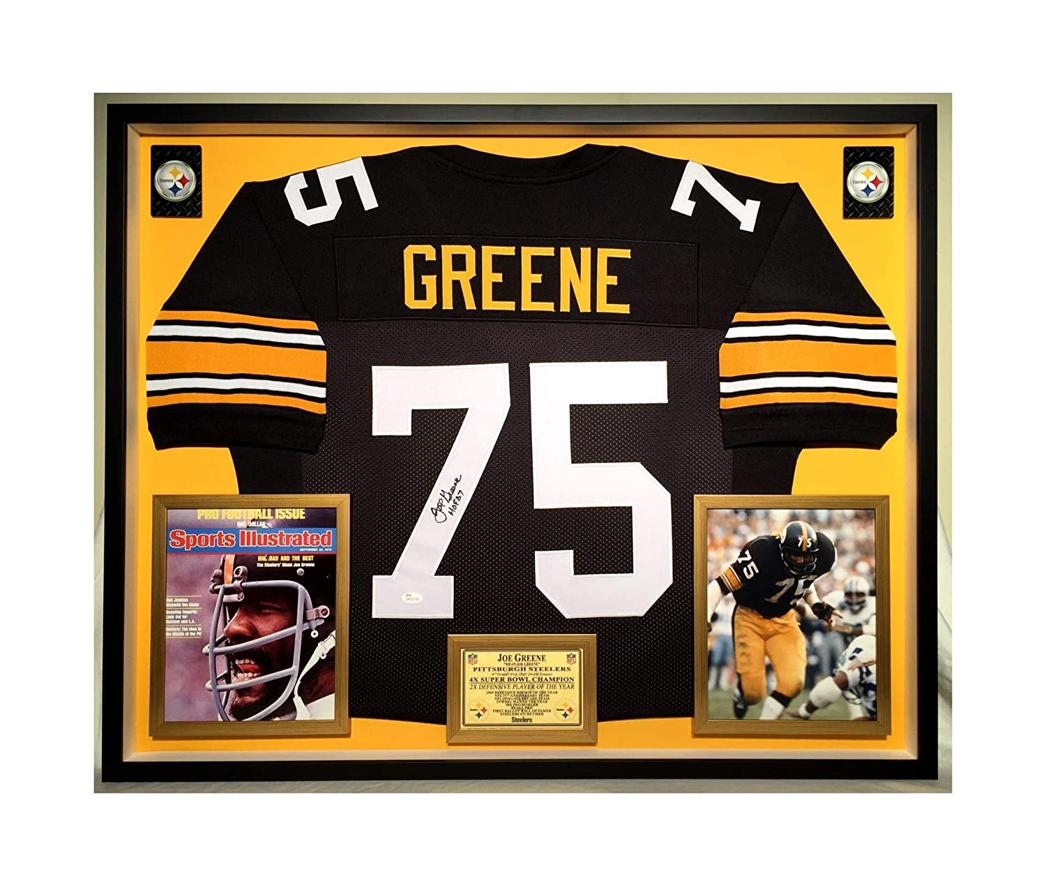 competitive price fb2ce adfbe Premium Framed Joe Greene Autographed/Signed Pittsburgh ...