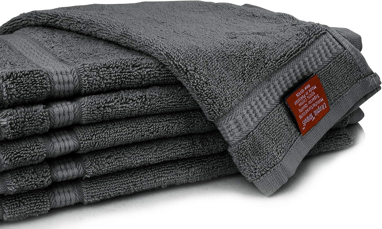 confezione da 12 Dark Brown 33/x 33/cm Utopia Towels asciugamani di lusso
