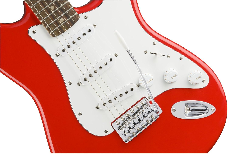 Squier Affinity Stratocaster RW Race Red Guitarra elŽcrica: Amazon.es: Instrumentos musicales