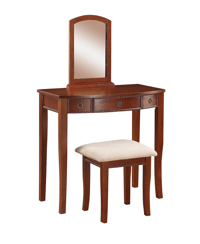 Amazon.com: Linon Home Decor Molly Vanity Set: Kitchen & Dining
