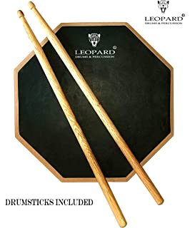LEOPARD DRUMS MANUFACTURING CO. 12 Inches 2 Sided Drum Practice Pad
