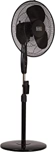 BLACK+DECKER 16 Inches Stand Fan with Remote, Black (Renewed)