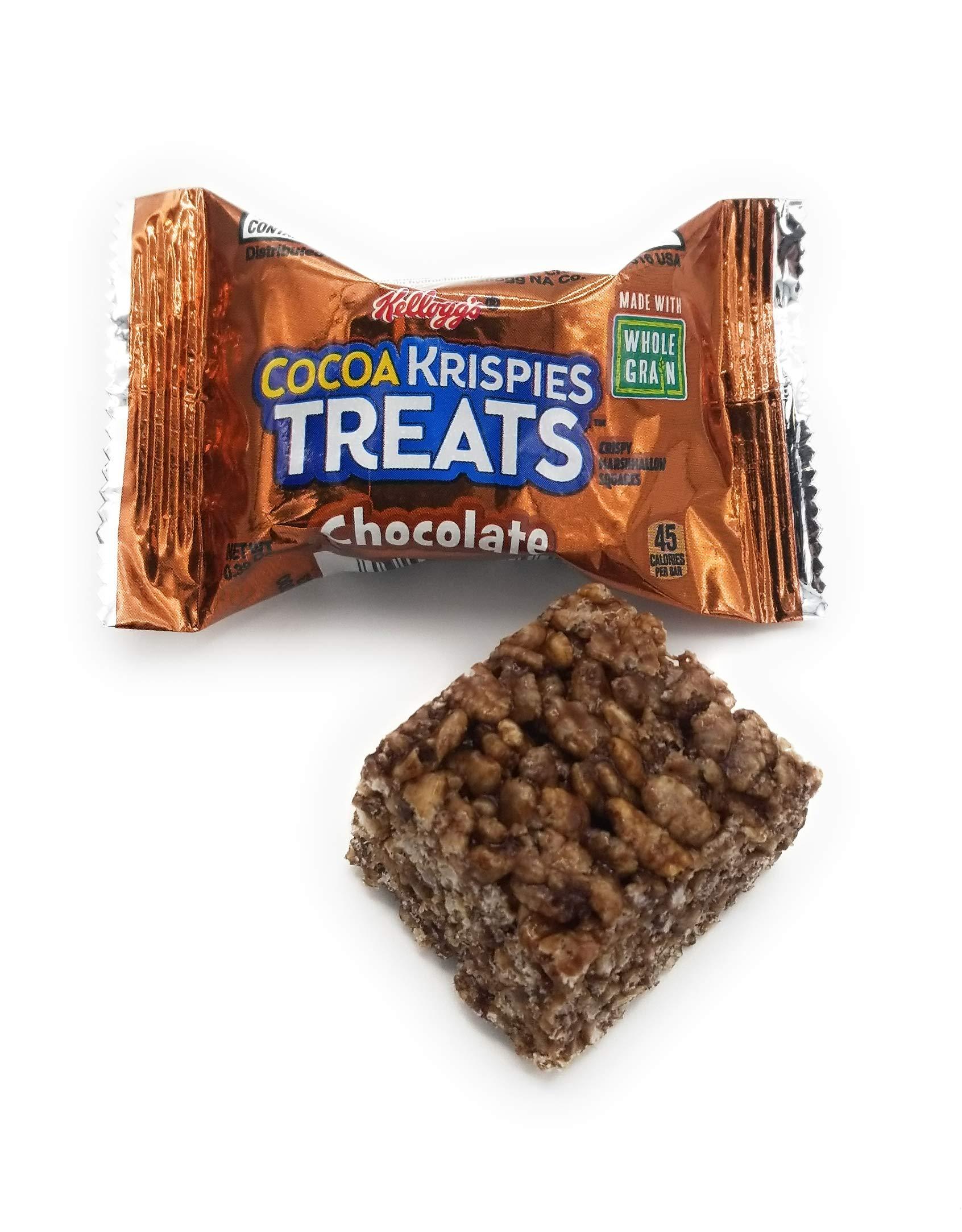 Kellogg's Cocoa Krispies Treats, Crispy Marshmallow Squares, Chocolate, (Pack of 100, 0.39 oz Bars)