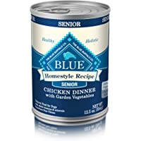 BLUE Life Protection Dog Food Blue Buffalo Homestyle Recipe Natural Senior Wet Dog Food, Chicken 12.5-oz can (Pack of 12)