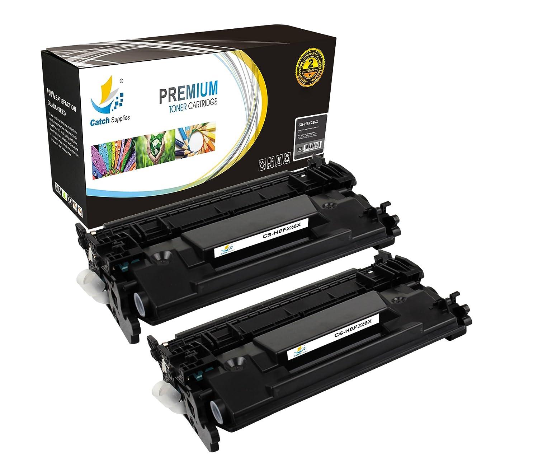 Catch Supplies CF226X 26X 2 Pack Premium High Yield Black Replacement Laser Toner Cartridge compatible with the HP LaserJet Pro M402d M402dn M402n, MFP M426dw M426fdn M426fdw printers |9,000 yield| OP-3104