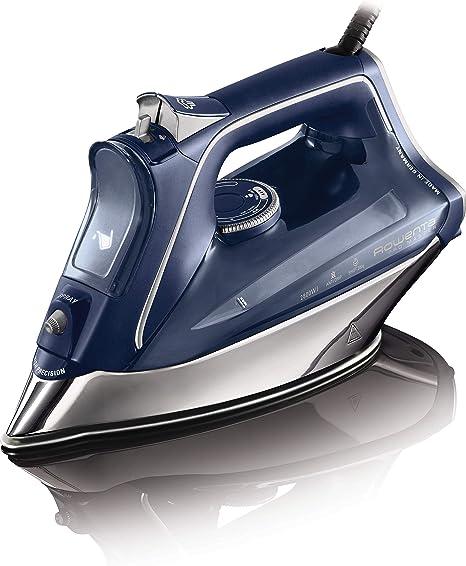 Oferta amazon: Rowenta DW8215D1 ProMaster Plancha de Ropa con Golpe 200 Vapor Continuo de 40 g/min, Suela Microsteam 400 HD Profile, Modo Eco y Sistema antical Integrado, 2800 W, 0.3 litros, Acero Inoxidable, Azul