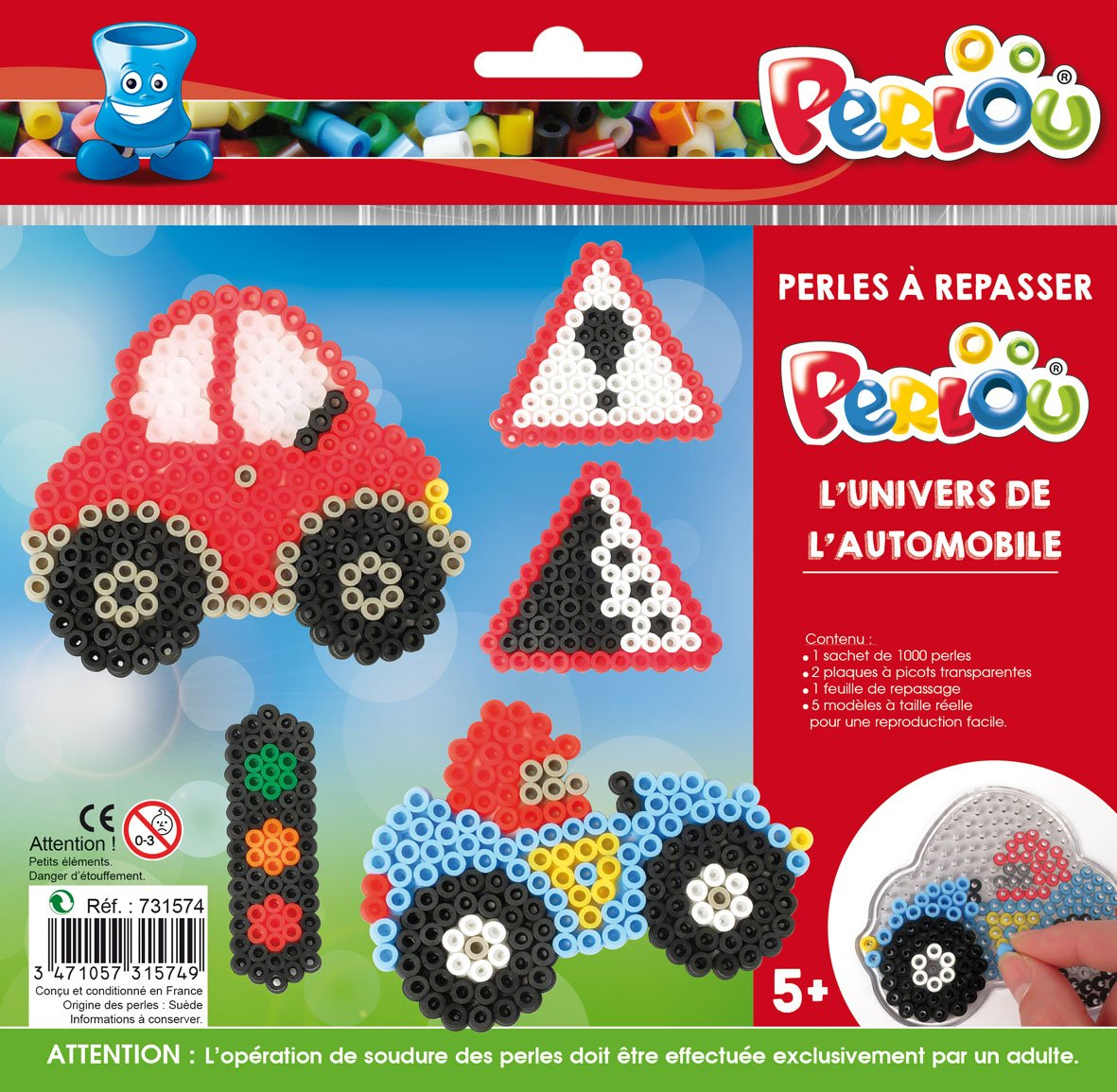 Perlou Standard Plates Kit and Beads (5mm)–World of Cars