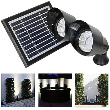 Frostfire Garten Landschaft Solar Scheinwerfer Strahler Amazon De