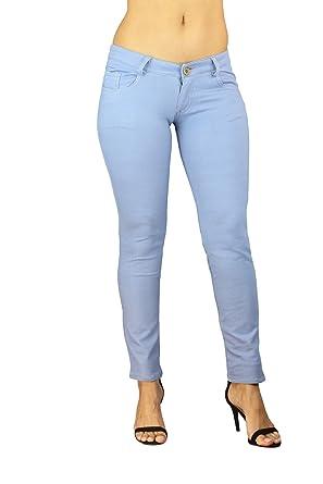 9331e9db77f62 Pantalon Jeans Slim Mujer Leggings Leggins Treggings Jeggings Collant 34 -  42  Amazon.es  Ropa y accesorios