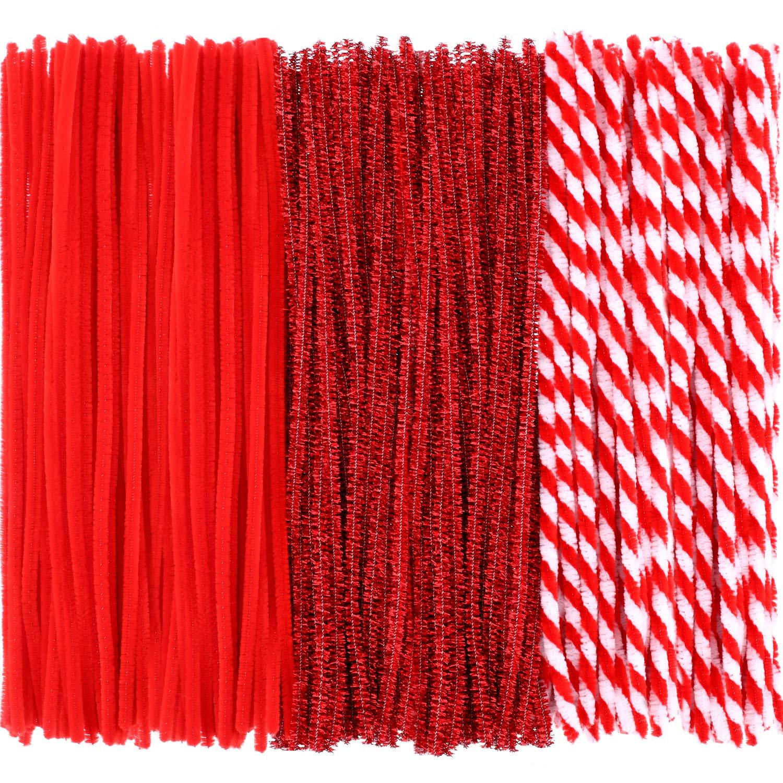 Pangda 240 Pezzi Natale Scovolini Pipa Detergenti Luccichio Stelo in Ciniglia per Fai da Te Mestieri Arte Fornitura (10 Colori)
