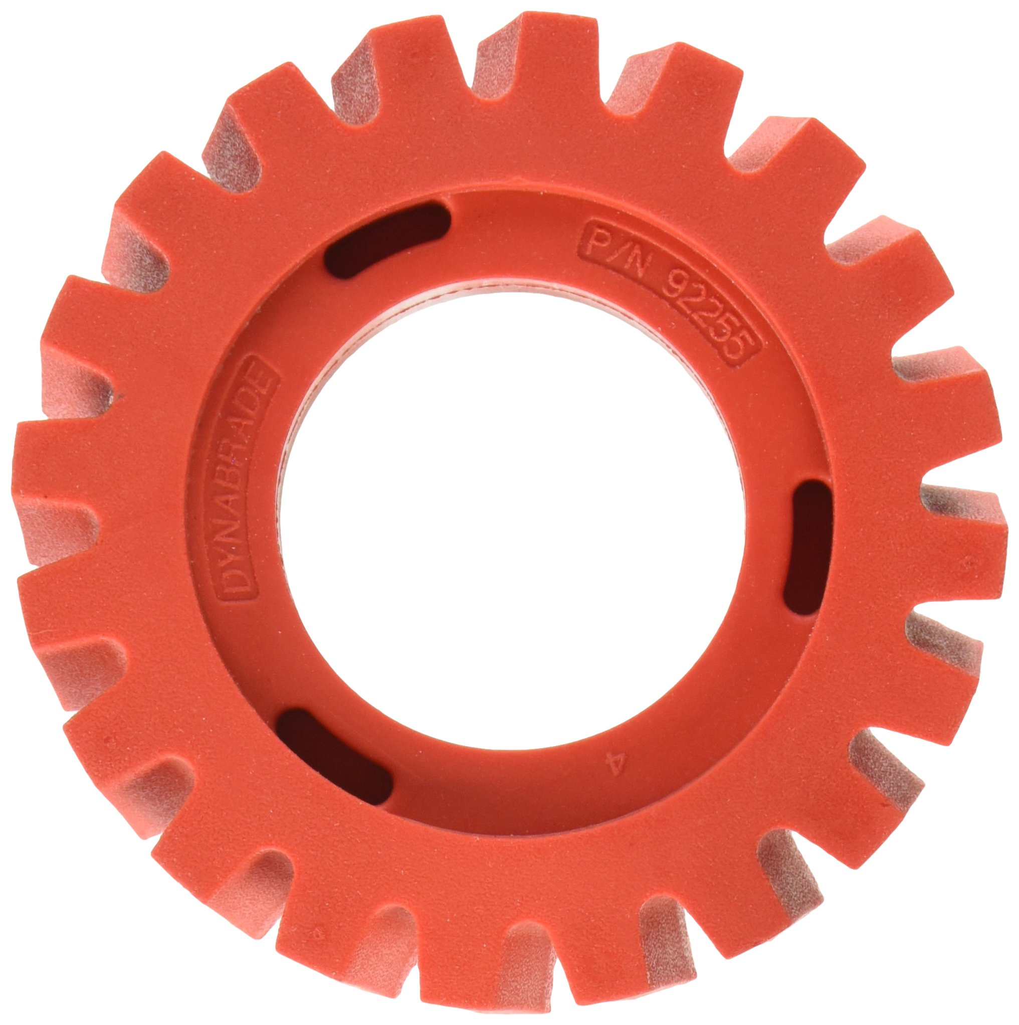 Dynabrade 92255 4-Inch Diameter by 1-1/4-Inch Wide RED-TRED Eraser Wheel; Wheel Only, Red