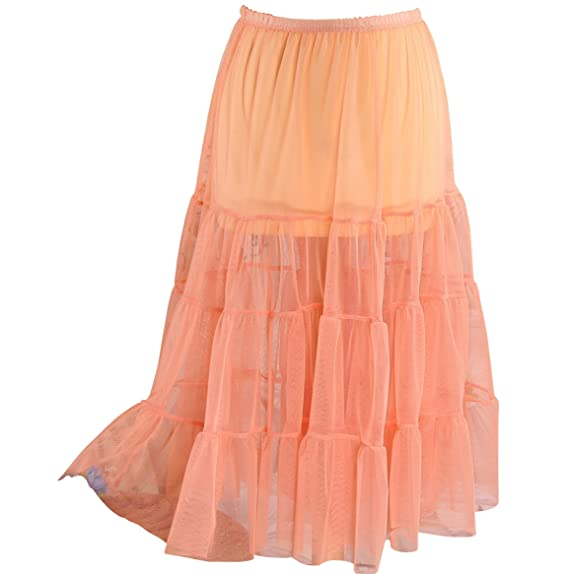335121890adf84 Charleselie94® - Jupe Grande Taille Tulle Volants Rose Saumon LOUANE ...