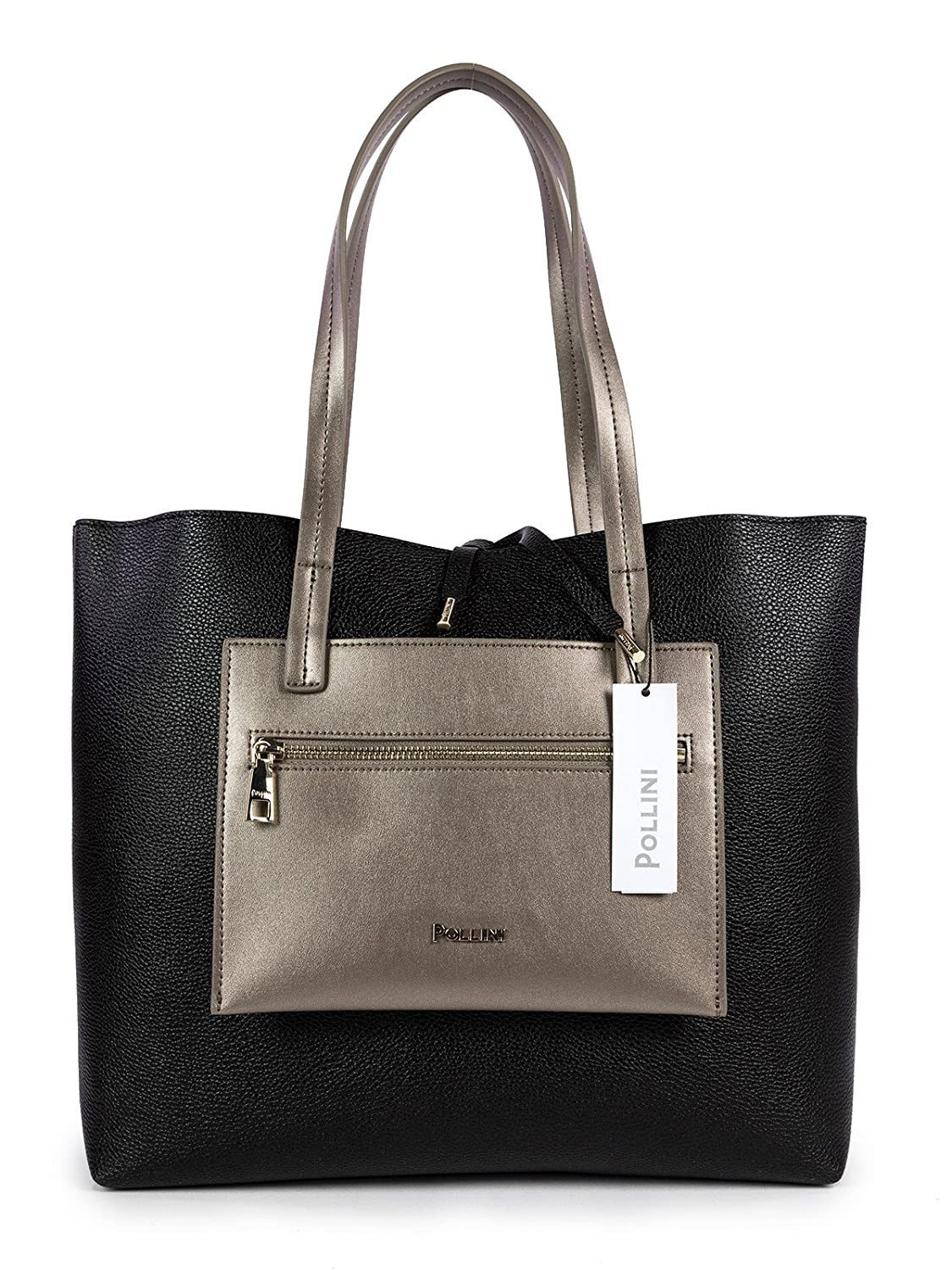 BORSA POLLINI SHOPPING BAG SC4512PP05SE100A NERO+METAL